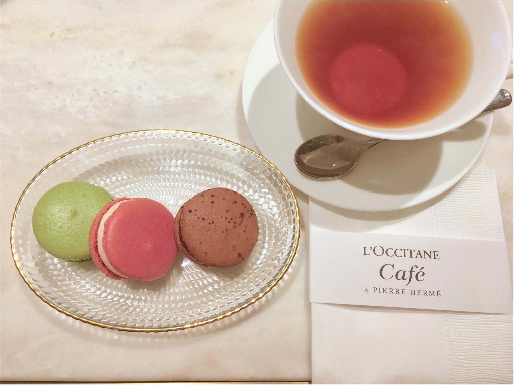 L'OCCITANE Café by Pierre Hermé(ロクシタンカフェ バイ ピエール・エルメ)へ♡_3