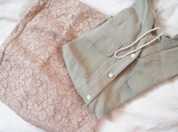 《#170cmトールガール》のプチプラコーデ❤️【GU】ベージュのレースタイトスカートが高見えで使える☻