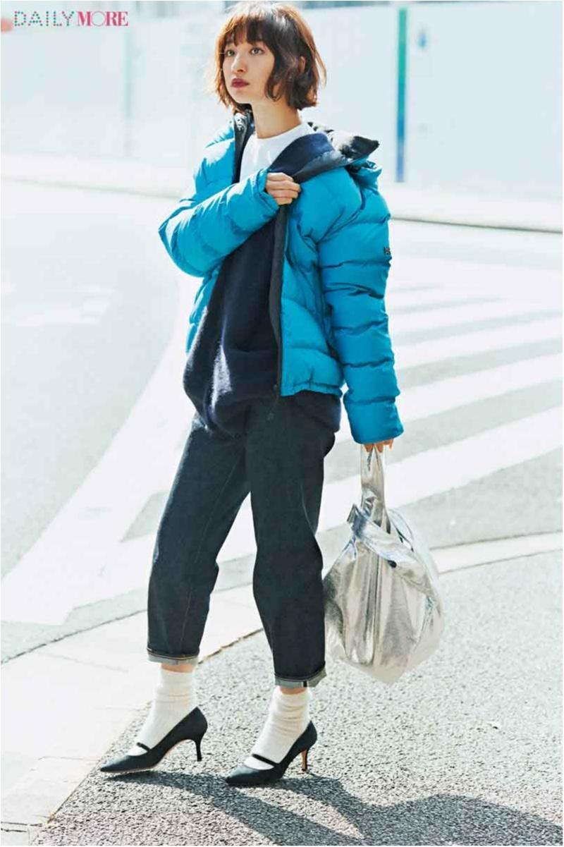 【今日のコーデ/篠田麻里子】カジュアルなアイテムをきれいに着る、それがダウン×デニムの新しい楽しみ方♪_1