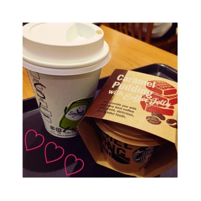【スタバ】\\New!!!//キャラメルプリンwithコーヒージェリーを食べてきました❤️_4