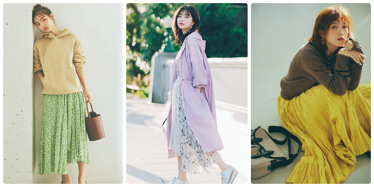 【春色コーデ】2019年の春に着たいトレンドカラーのコーディネート♡