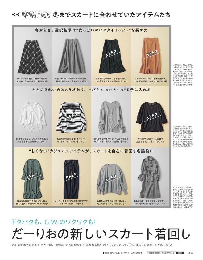 だーりおの新しいスカート着回し(1)