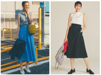 夏のフレアスカートコーデ10選《2019年版》- 20代におすすめのロング丈フレアスカートの着こなし方
