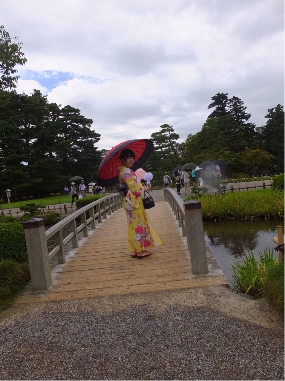 《週末金沢旅》浴衣で風情を感じながら金沢を街歩き〜兼六園・ひがし茶屋街〜♡*_4