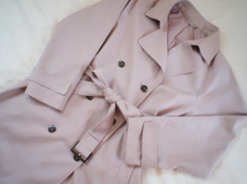 《#170cmトールガール》のプチプラコーデ❤️【GU】人と被らない!くすみピンクのトレンチコートが優秀☻
