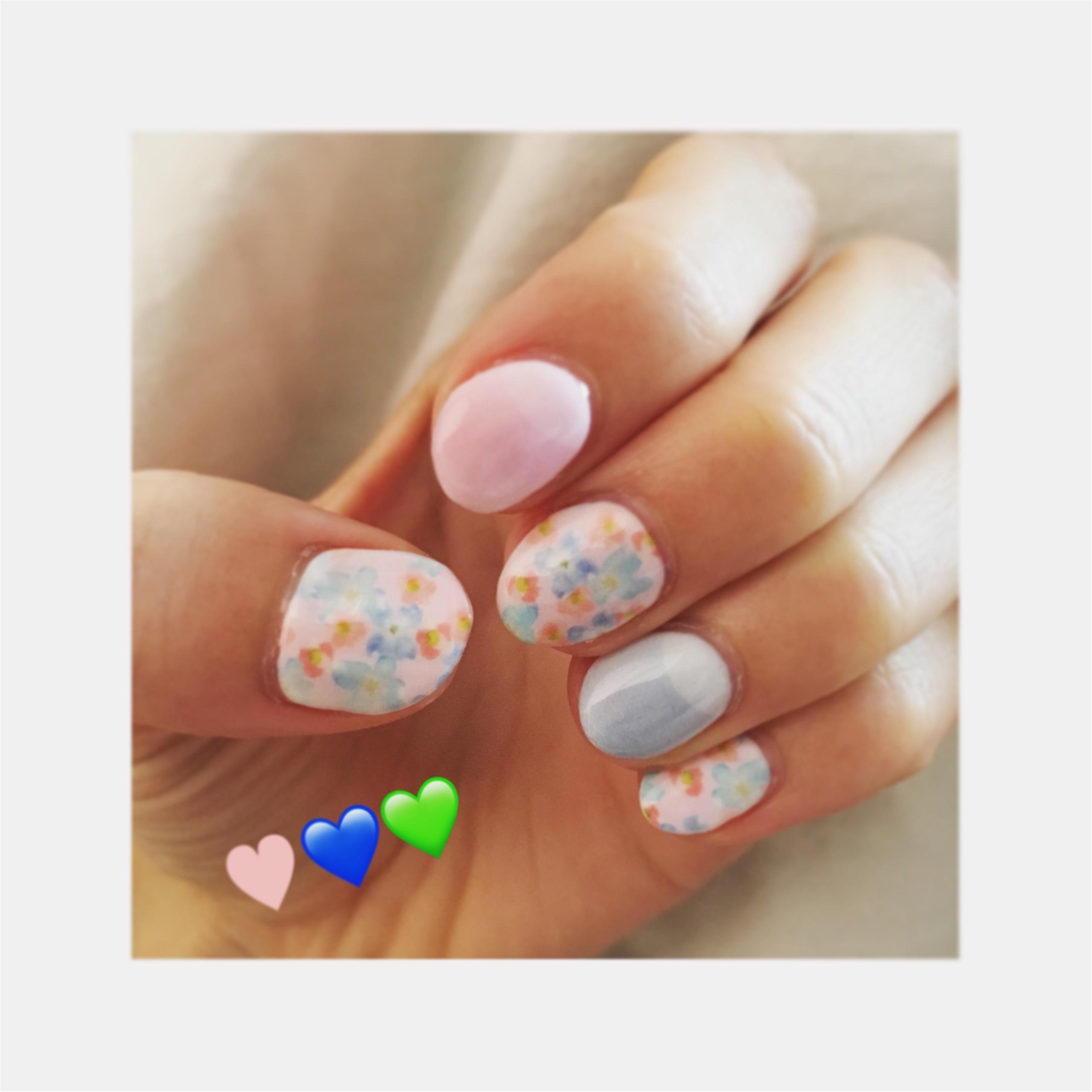 【New Nail★】フラワー柄×パステルで女の子らしさ全開に♡_1