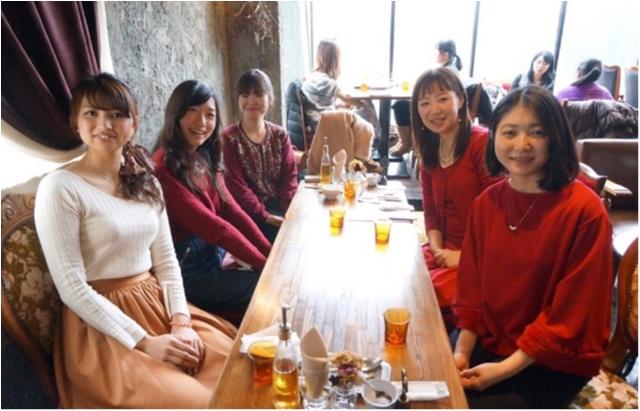 ドレスコードは赤❤️表参道のオシャレなお店で女子会_5