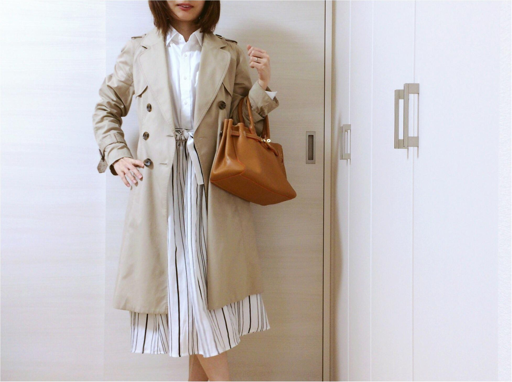 佐藤ありさコラボ服『FlowerDays』流行《ストライプ》リネン風スカートは着回しも着心地も楽チン!_11