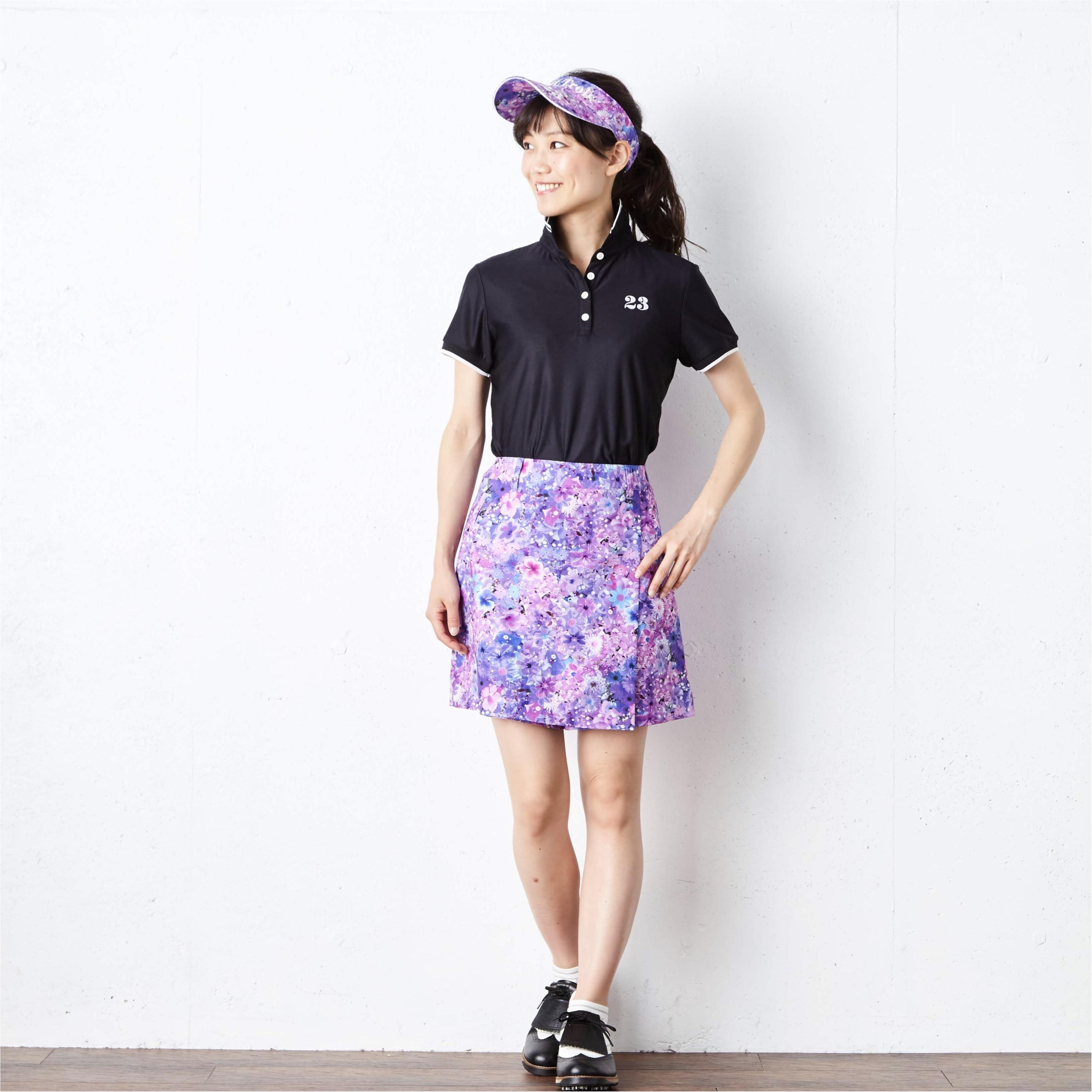【23区GOLFcoodinate】ゴルフ女子必見!夏のゴルフコーディネート3色展開!_3