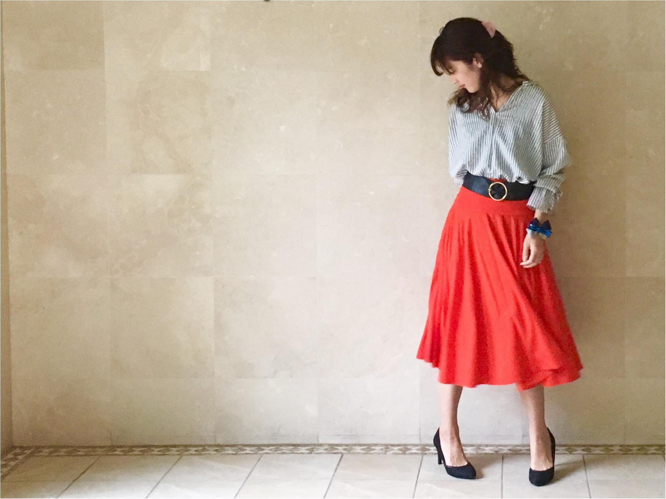 【UNIQLO】シワになりにくいからお手入れ楽チン❤️《美シルエットの優秀スカート》3選!_2