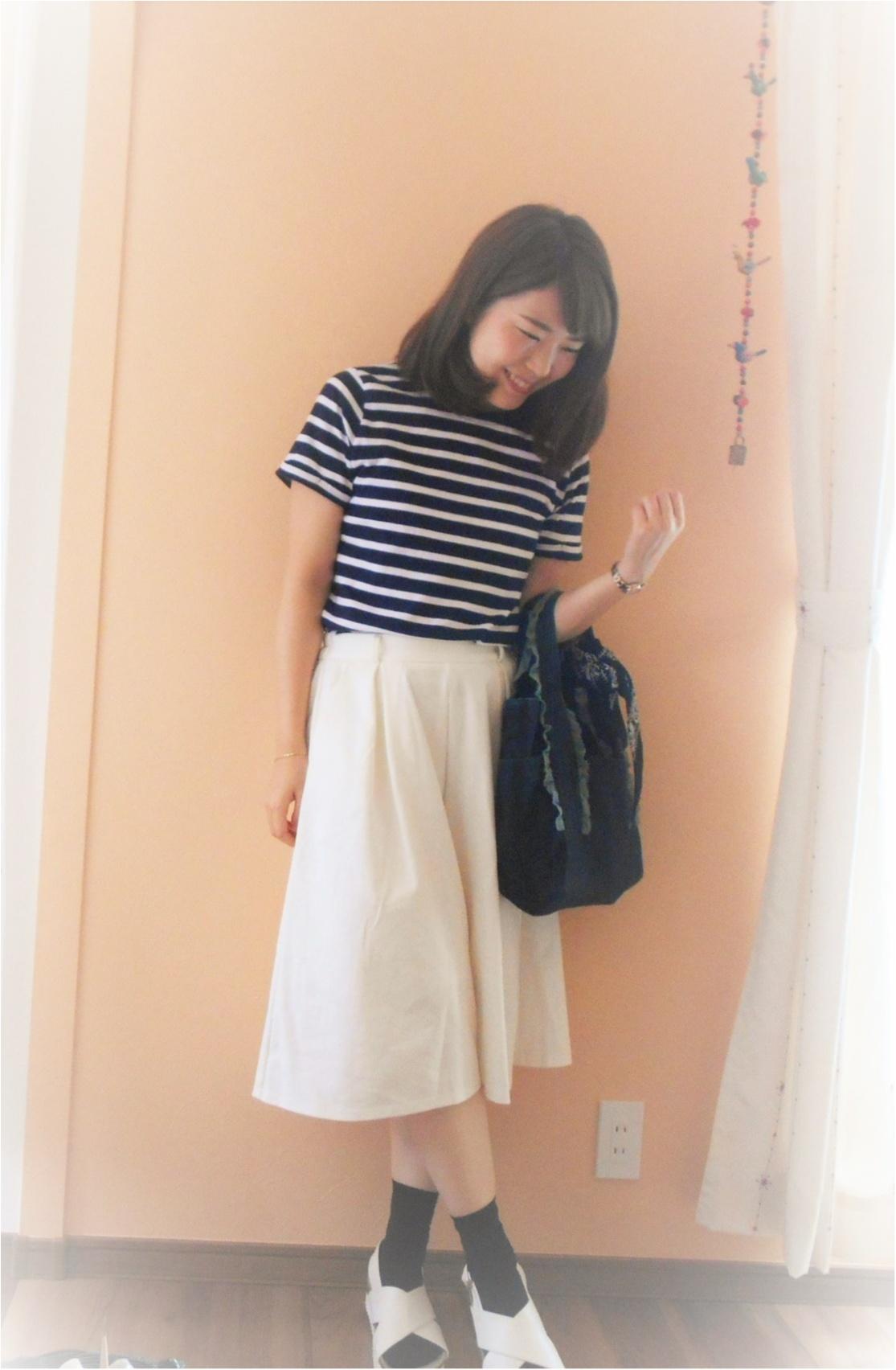 →【coordinate♡】1000円でお釣り!GUのTシャツ・ほんわかモノトーンコーデ☆彡① Myu2._3