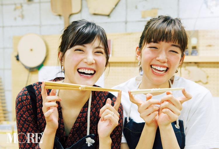 佐藤ありさと、『Makers' Base Tokyo』で箸作り! 可愛すぎる姿に惚れ惚れ。【佐藤栞里のちょっと行ってみ!?】_4