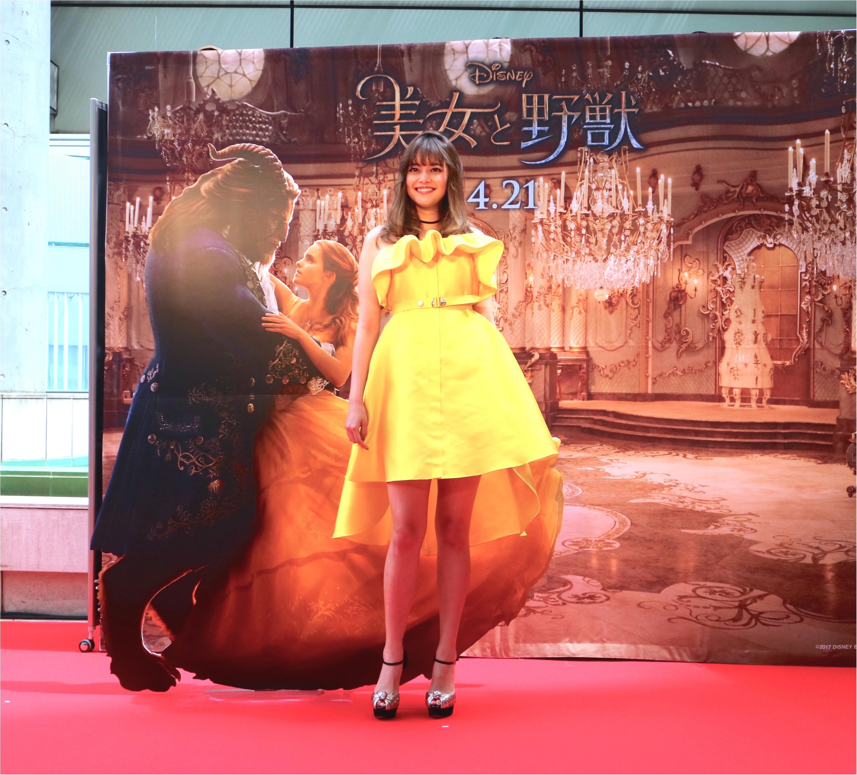 岸本セシルが映画『美女と野獣』レッドカーペットに登場! ベルイエローのドレス姿が美しすぎる♡_1