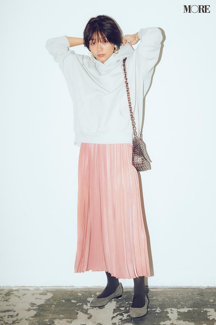 身長150cm台・ぺたんこ靴でもこんなに腰高脚長見え!ロング丈のスカートはこのブランドで選んでみて_1