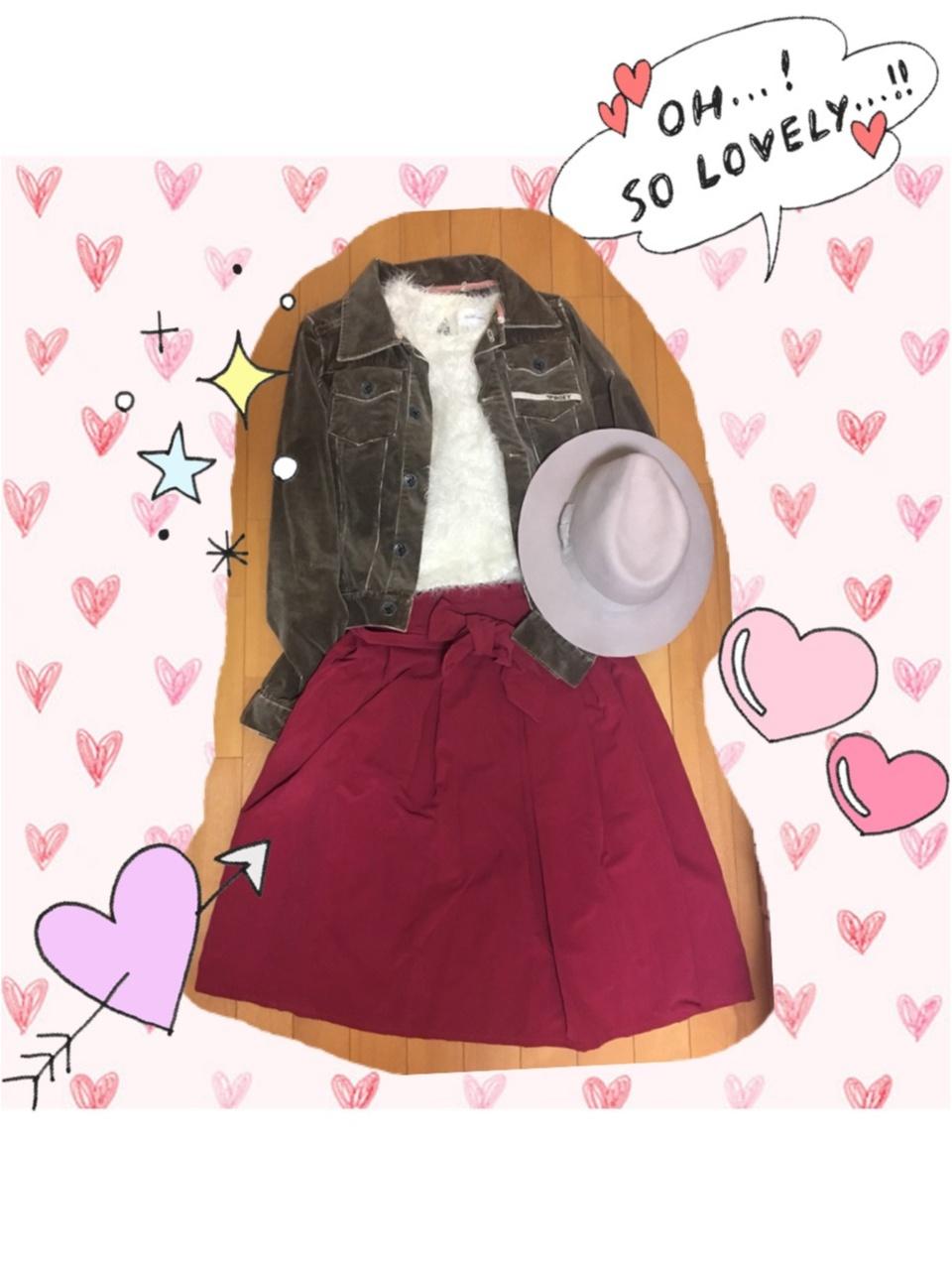 【ファッション】赤deおでかけ秋コーデ_5
