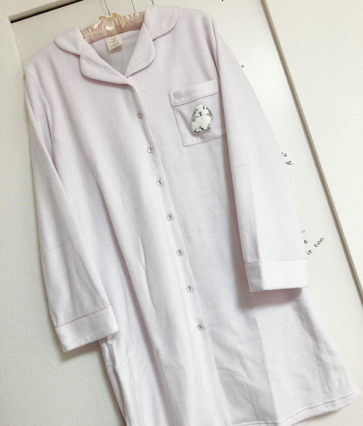 うさぎさんが可愛い♡Suite of rooms スイートルームコレクション★うさぎの刺繍 フリース ワンピース♡_2