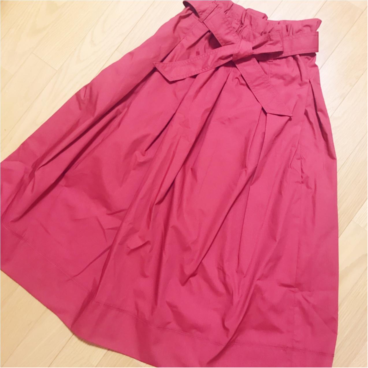 履くだけで大人可愛い♡【ユニクロ】のミディスカートが使えるっ!_1