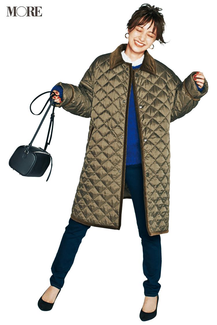 通勤コーデの相棒にキルティングコートが使える