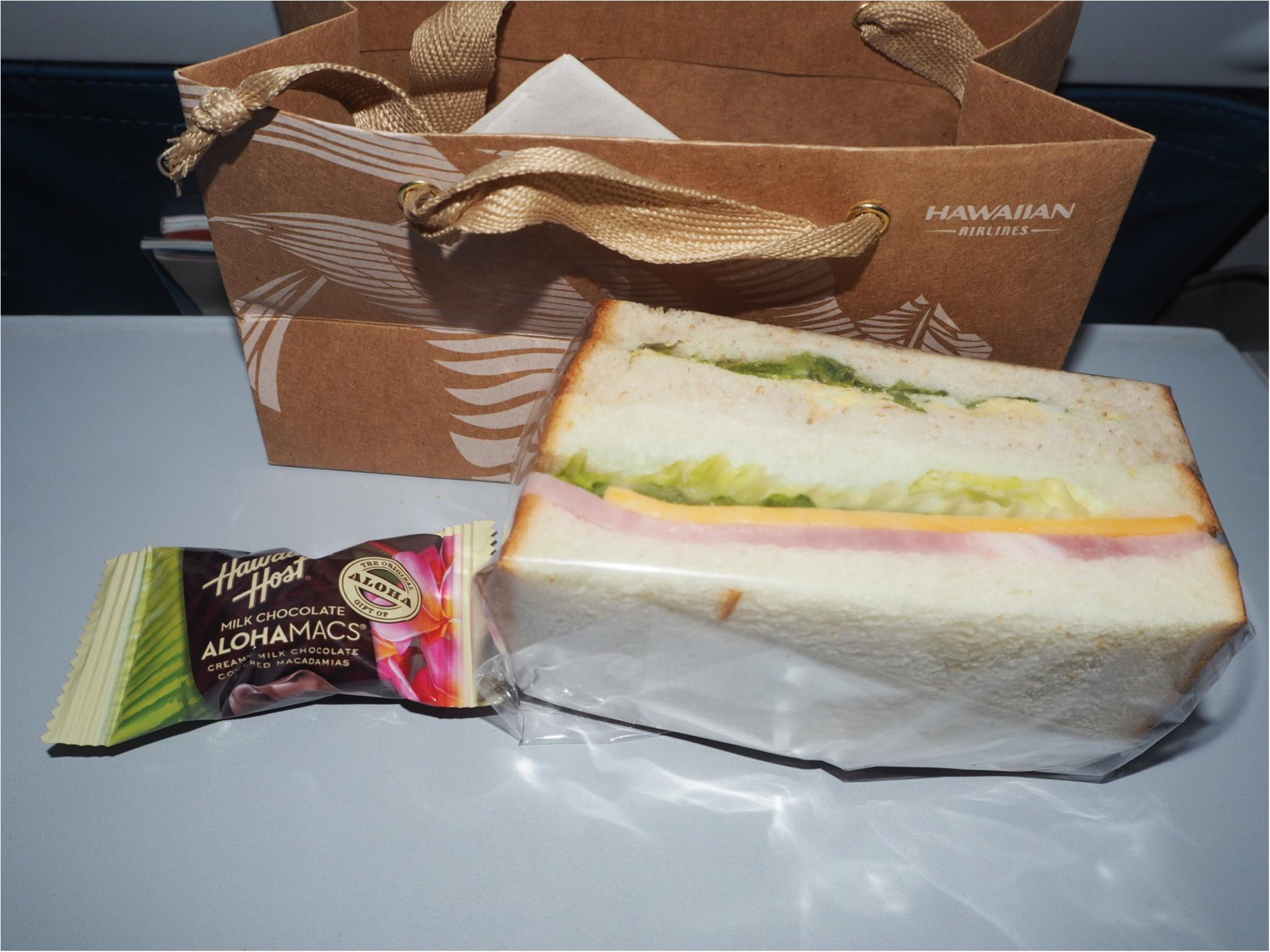 【ハワイ✈︎羽田】帰りの飛行機、ハワイアン航空の機内食はいつ出るの?お答えします‼︎_3