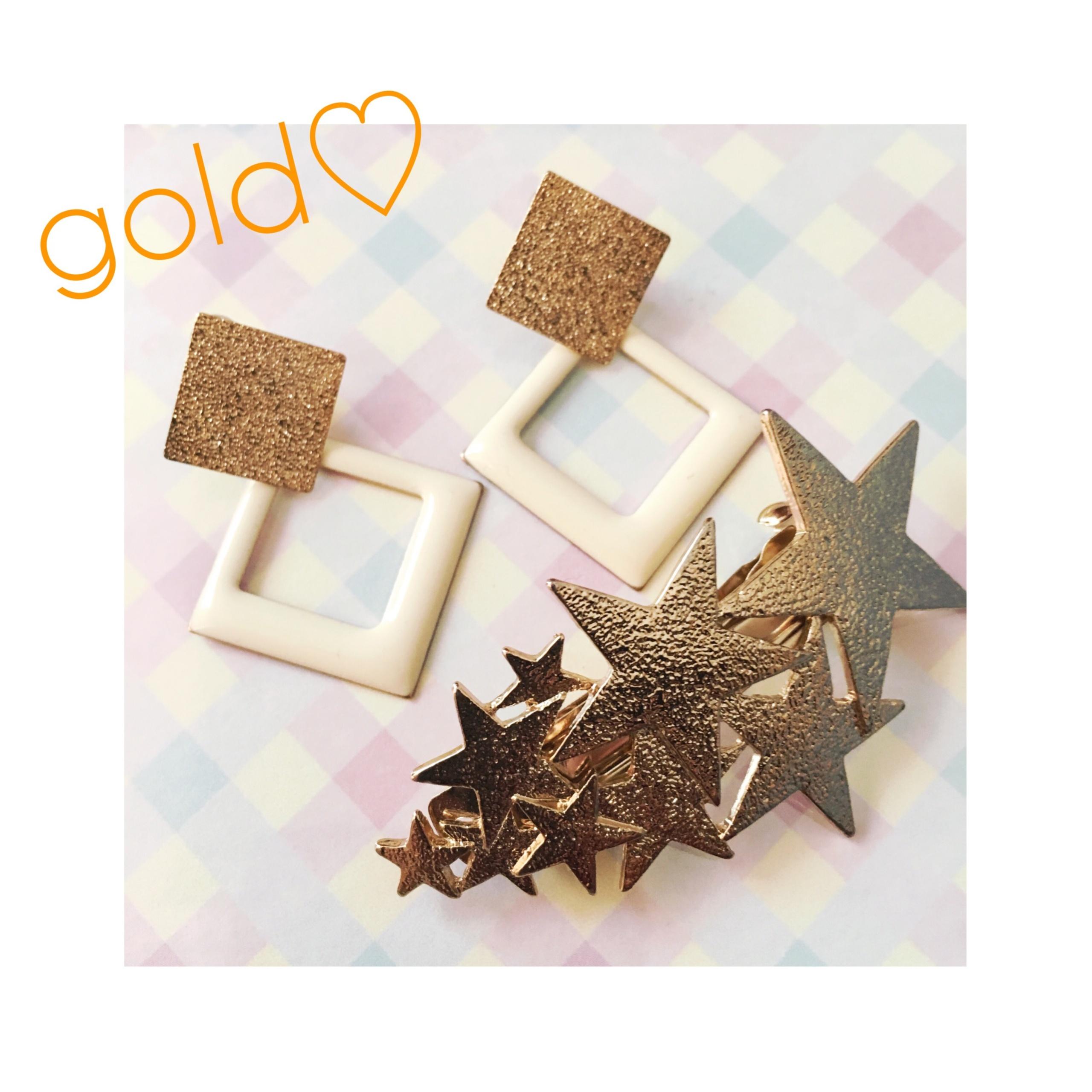 【3COINS】シンプル服にはゴールドの小物が使いやすい件♡ #スリコ女子 #ootd_1