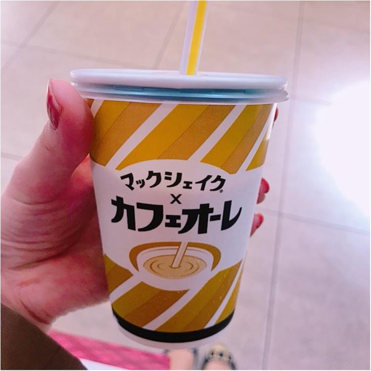 【マック】マック×カフェオーレのマックシェイクを飲んでみました♡_1