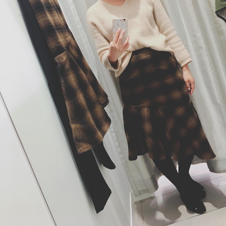 【GU(ジーユー)】嘘でしょ、、冬素材のマーメイドスカートが190円+税_2