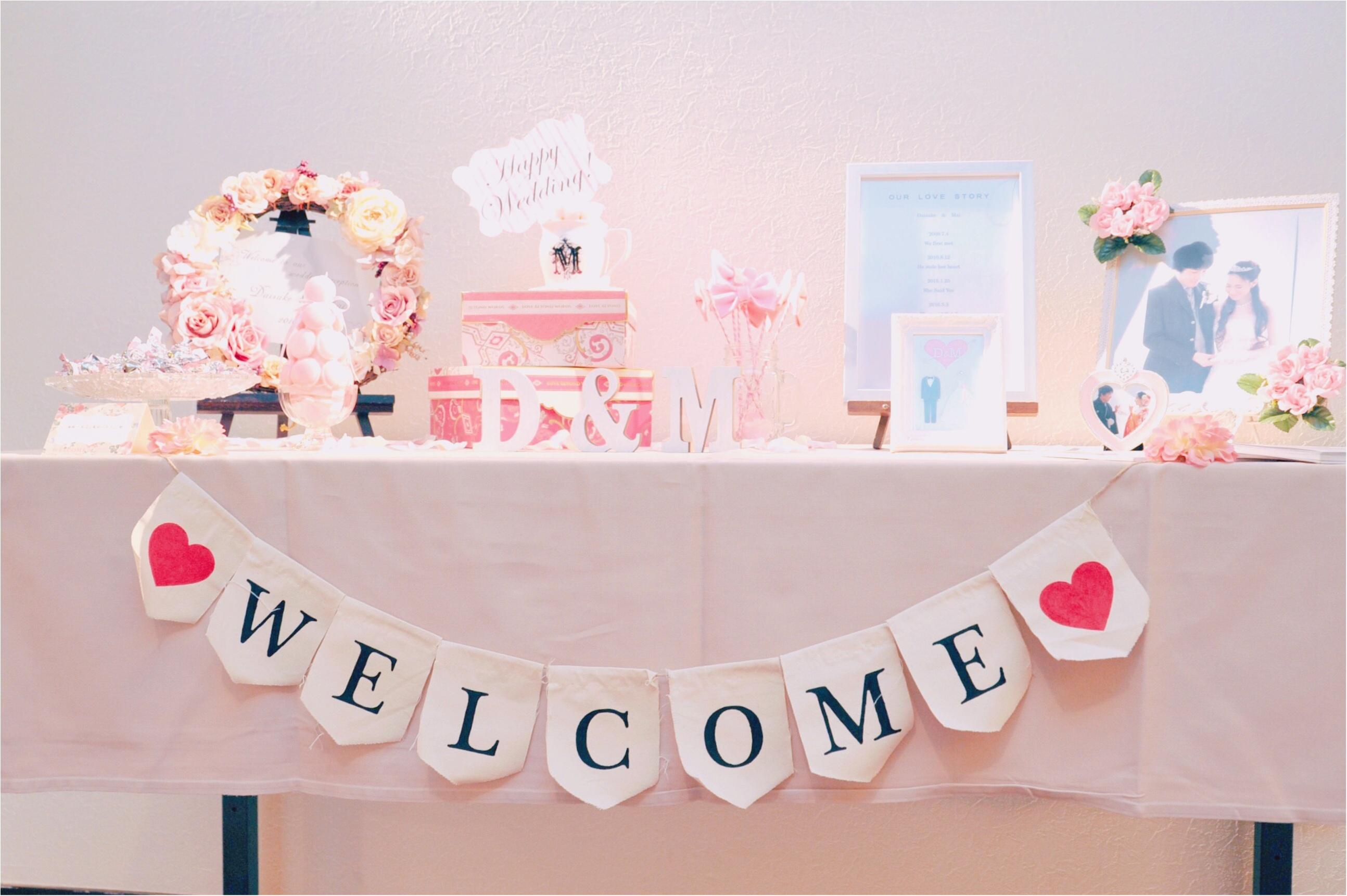 """""""Pink""""テーマの結婚式♡ 私のこだわりのウェルカムスペース♡アイディア6選ご紹介します♪_1"""