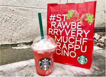 溢れるイチゴ感!! スタバの新作フラペチーノ「#STRAWBERRYVERYMUCHFRAPPUCCINO 」まとめ♡