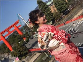 京都で友人の結婚式♪みんなで着物を着ました(*^ω^*)