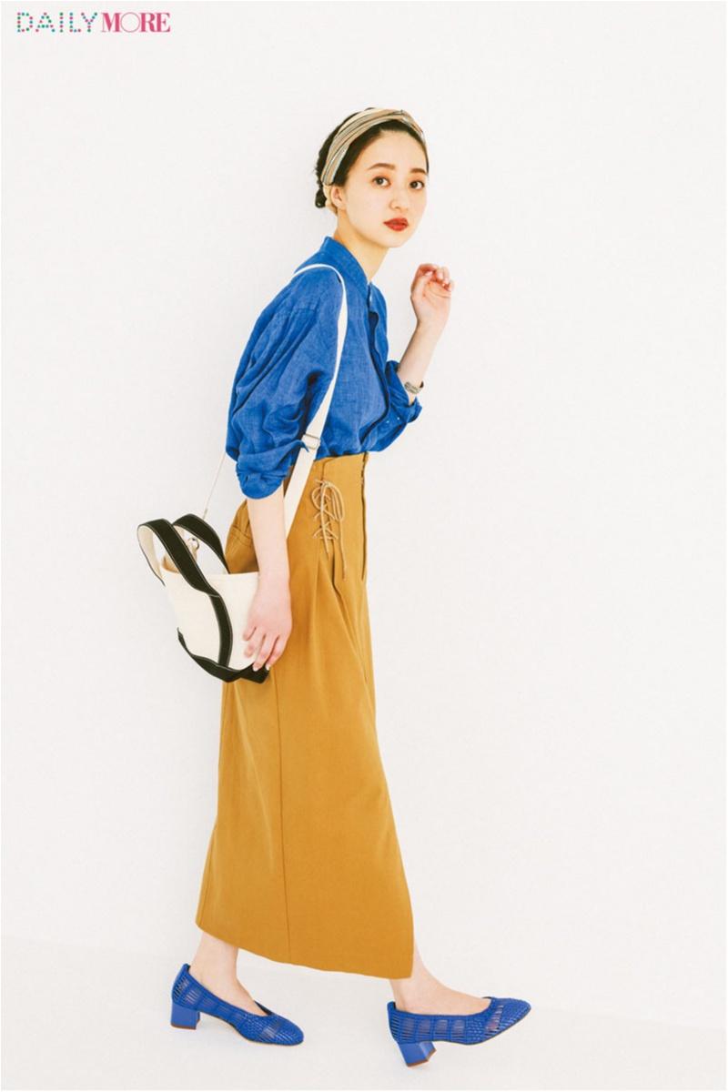 【今日のコーデ/逢沢りな】流行の90'sルックは鮮やかなブルーで叶う♡ もちろん相棒カラーは万能なベージュで決まり!_1