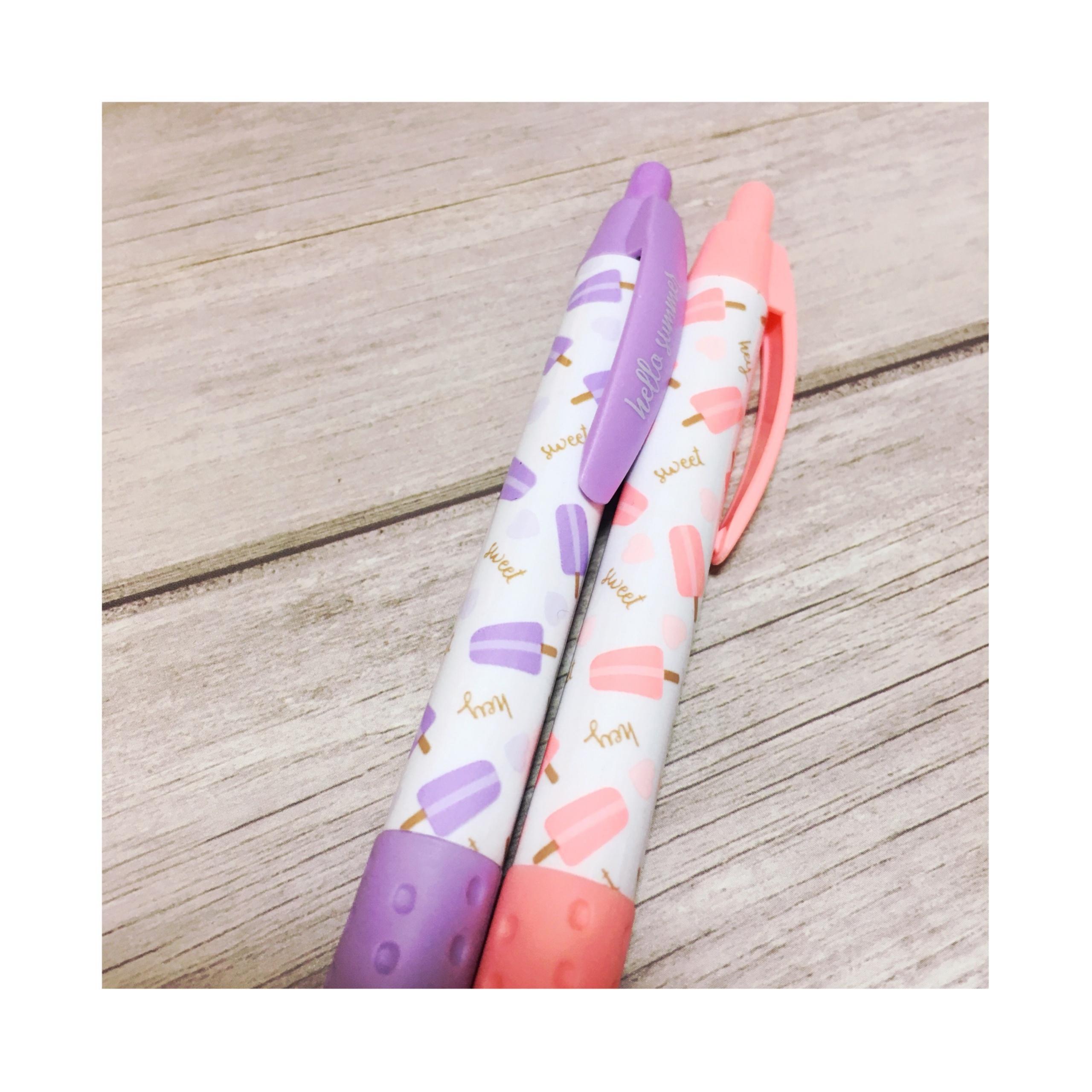 《オフィス用品も夏仕様にチェンジ★》【DAISO】で見つけたボールペンがかわいい!❤️_2