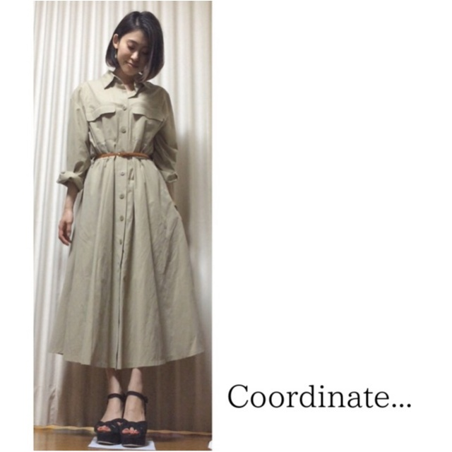 Coordinate...  シャツワンピで上品に_1