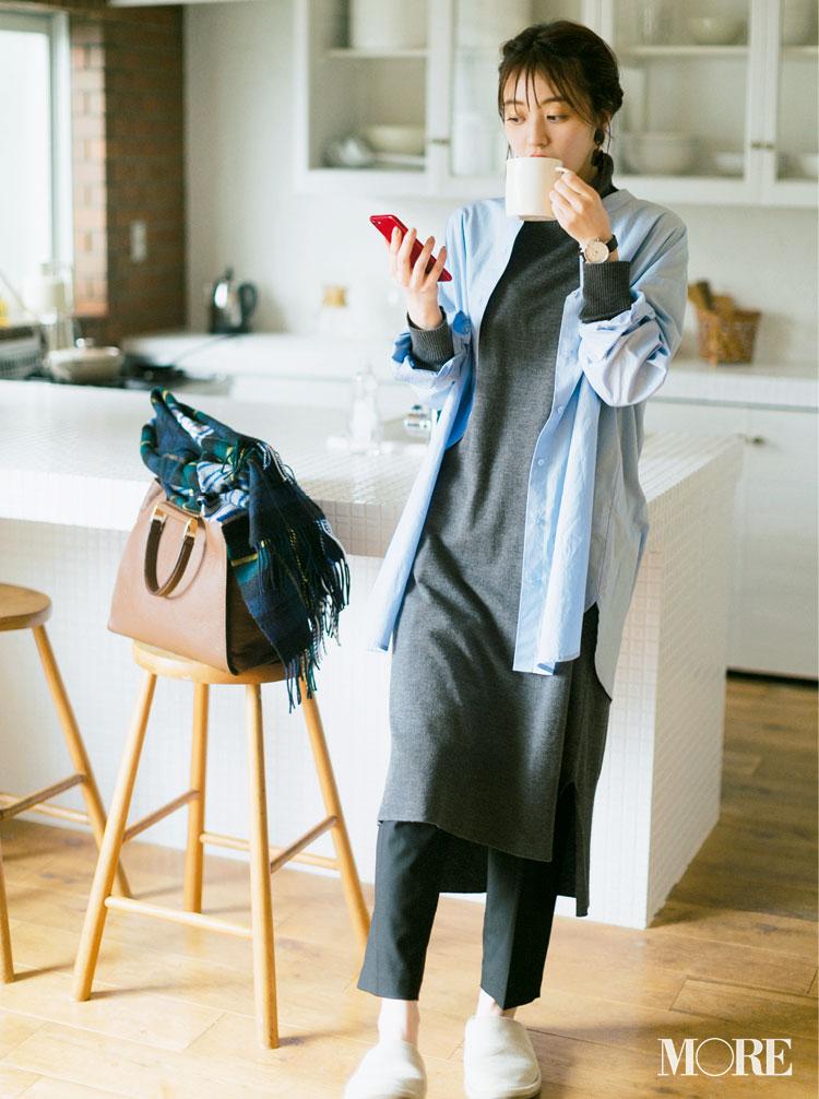 スカート、ニットにコートも! 冬のきれいめ【GUコーデ】まとめ | ファッション_1_3