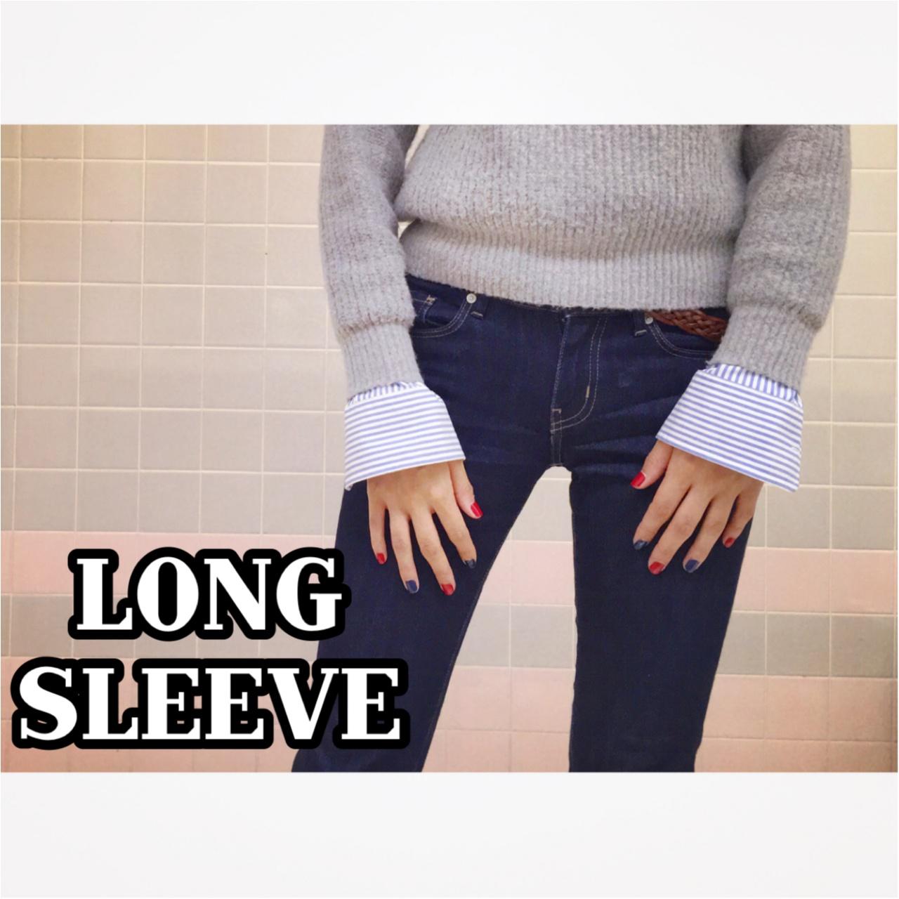 ▶▶秋冬流行の『ロングスリーブ』を≪GUメンズシャツ≫でゆる~くオフィスコーデに取り入れちゃいました☺_1