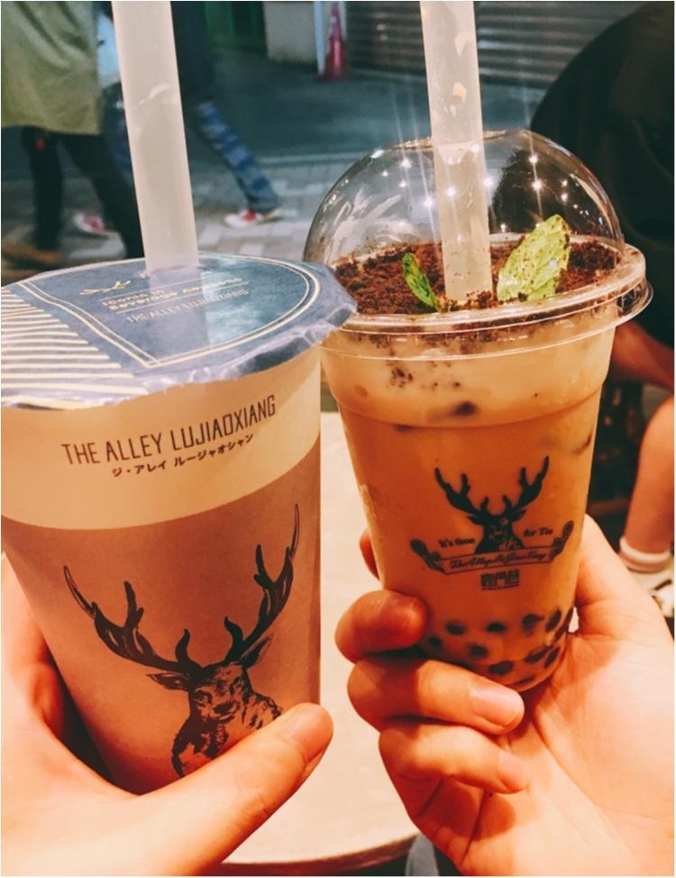 【台湾スイーツ】えっ!これって飲み物?!台湾発♡THE ALLEY LUJIAOXIANGの『盆栽タピオカミルクティー』♡♡_5