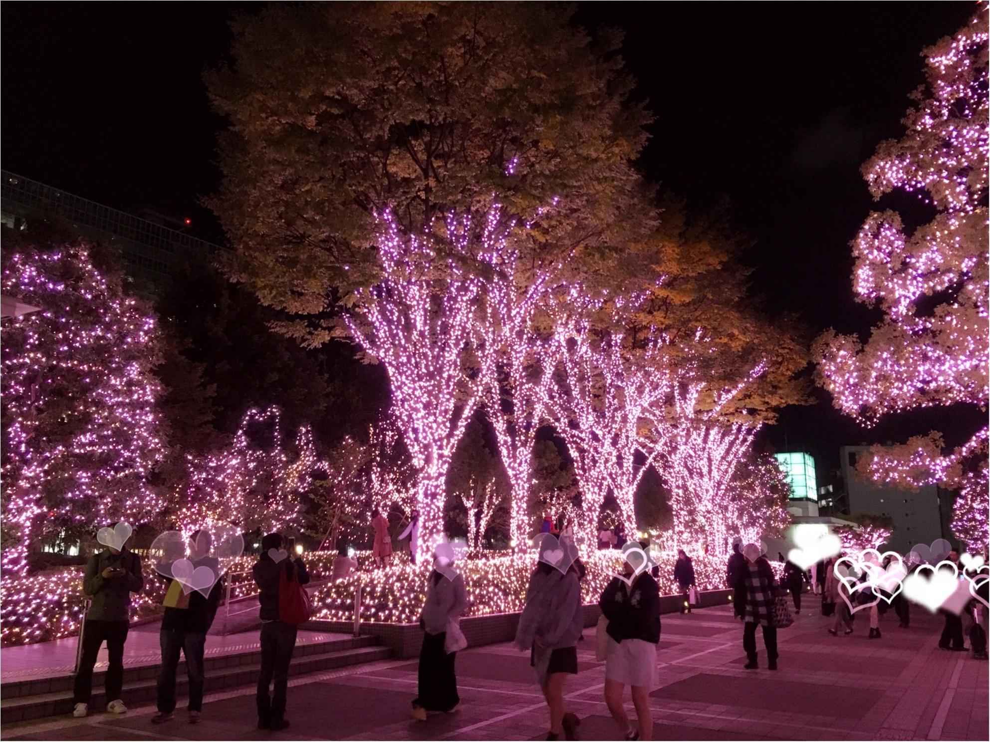 新宿の冬をベビーピンク色に染め上げる♡『新宿テラスシティ』のイルミネーションが女子力高め!体験型の『スマイルタワー』って?♡_8