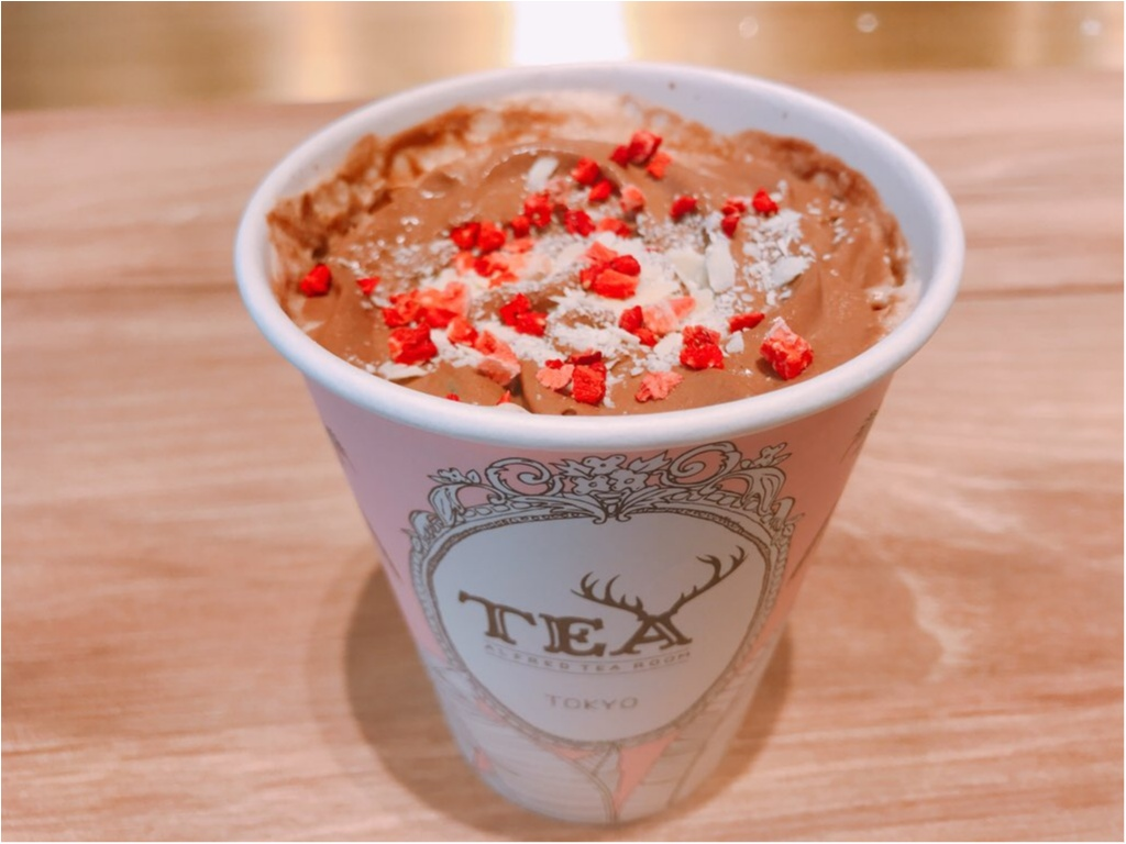 【ALFRED TEA ROOM】のバレンタインドリンク《ウィンターギフトティー》が可愛すぎる♡♡チョコっと大人なミルクティーが美味❤︎_4