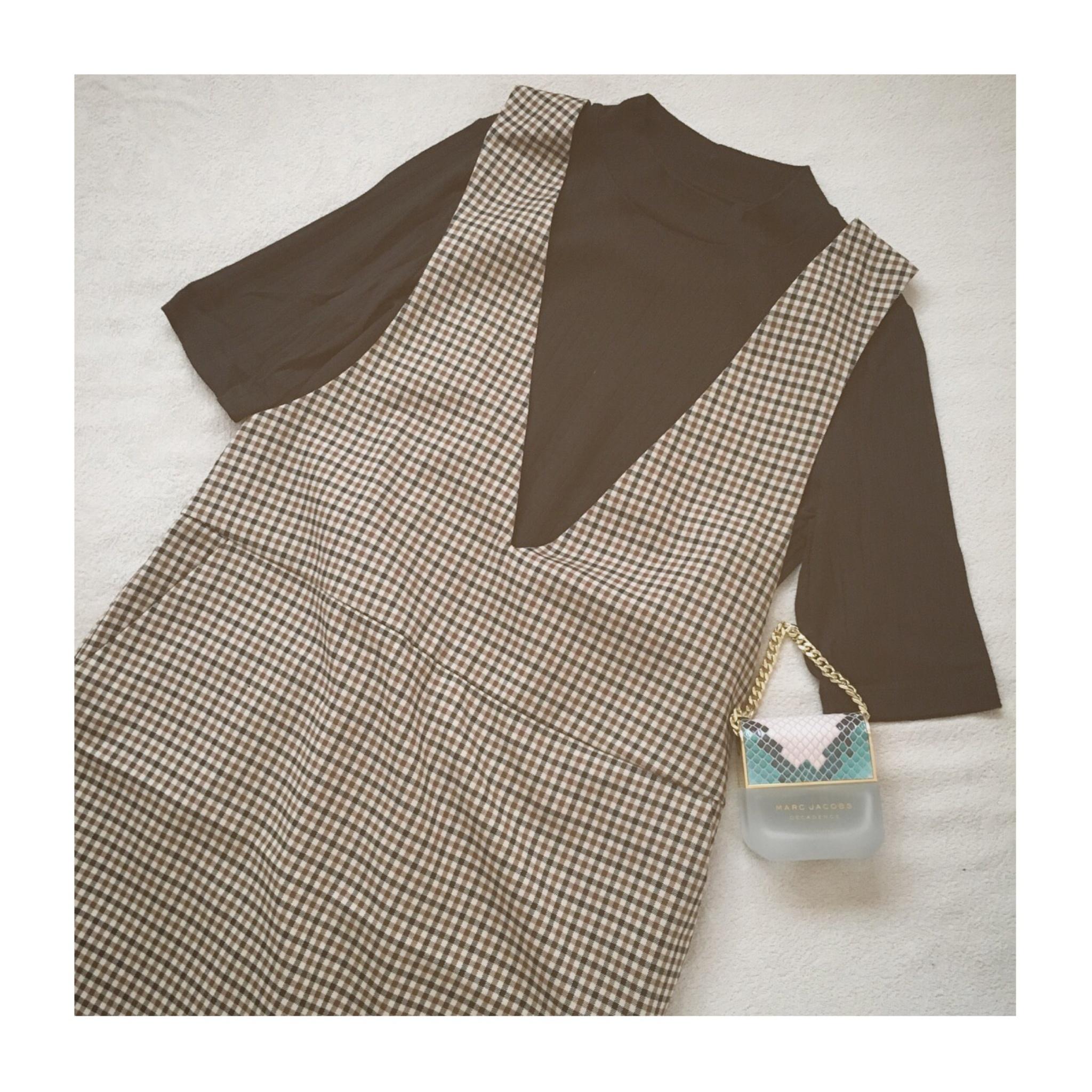 《いま買って秋まで使える!》【GU(ジーユー)】のガンクラブチェックジャンパードレス¥2,490で着まわしコーデ3選❤️_2