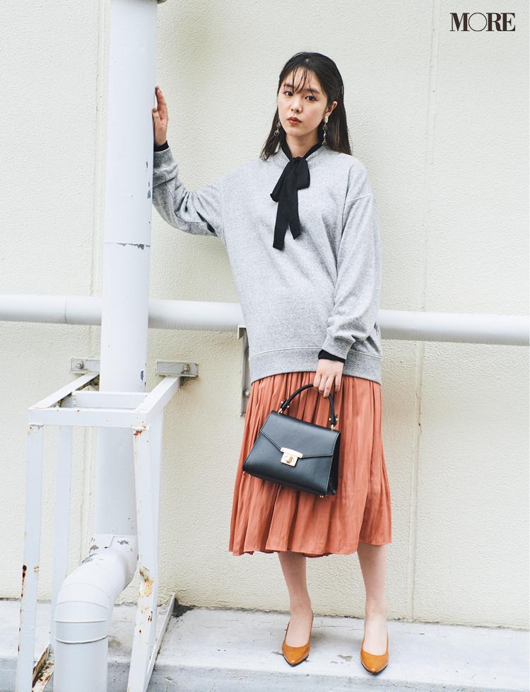 秋コーデ特集《2019年版》- トレンドのブラウンや人気のワンピース・スカートでつくる、20代におすすめのレディースコーデ_19