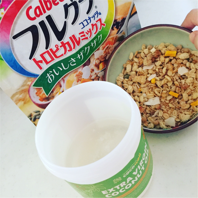 【Calbee/フルグラ】期間限定『ココナッツ味』登場!オススメの食べ方は〇〇をかけるコト♩≪samenyan≫_4