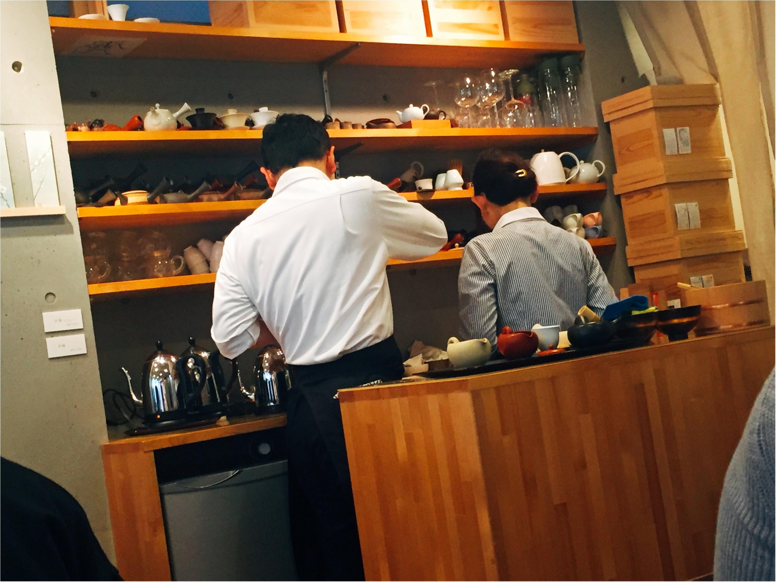 【表参道】日本茶が楽しめるカフェ♡期間限定《苺いり抹茶ティラミス》を食べに行きました♩_3