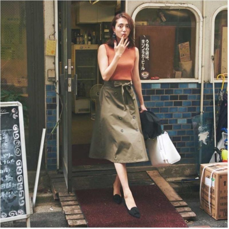ちょっと上のおしゃれも目指せる! 旬の【トレンチスカート】コーデ15選 | ファッション(2018年秋)6