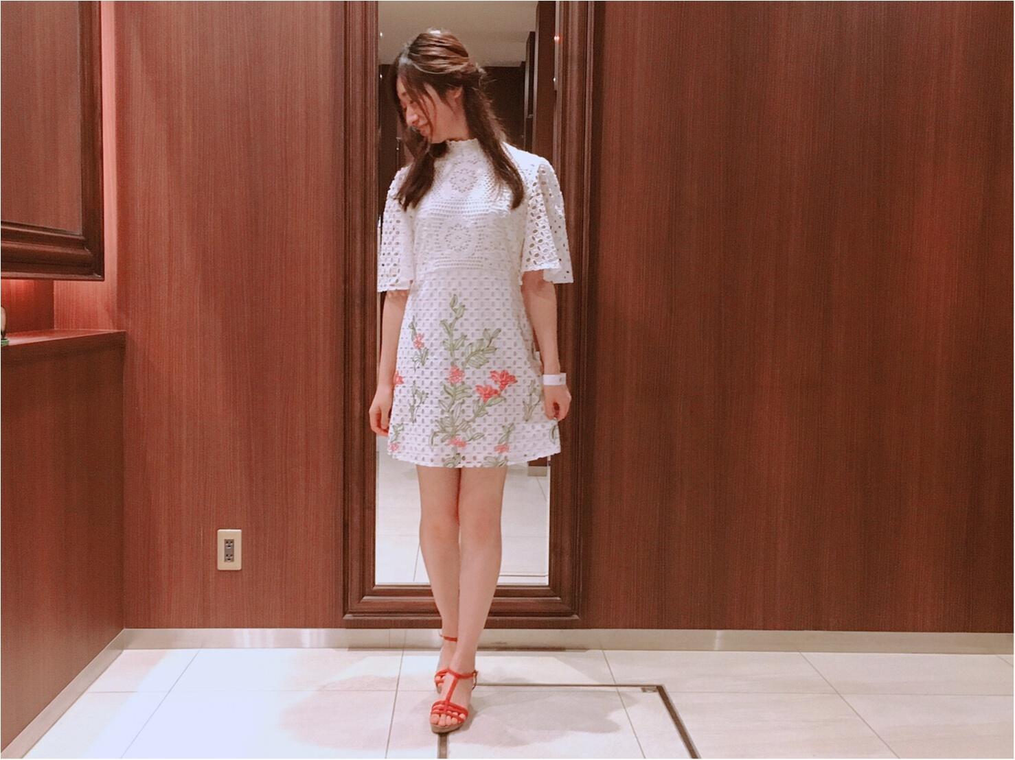 【ZARA】刺繍入りレースワンピース(¥7,990)がクラシカルで可愛い♡_2