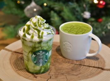 【スタバ 新作】クリスマスまでの限定! 「抹茶 ホワイト チョコレート フラペチーノ/ホット」はどんな味?
