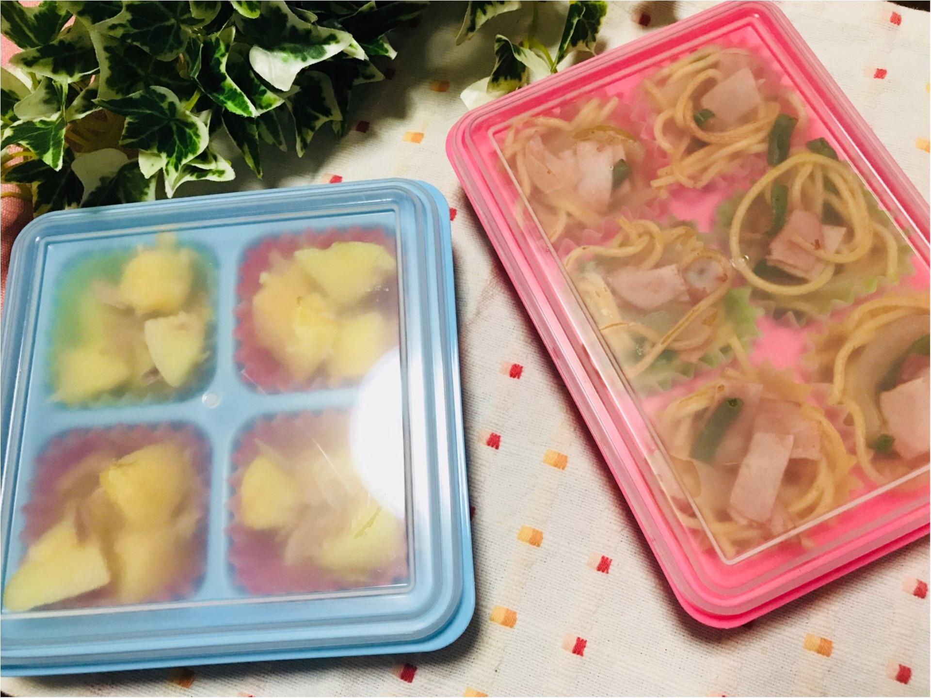 お弁当女子必見★100均の《冷凍おかずトレー》で、お弁当作りを効率化!_3
