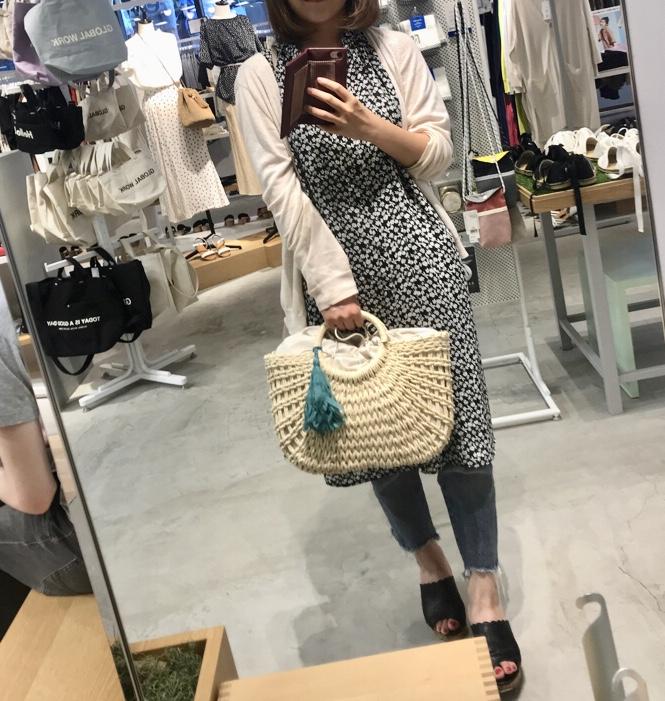 夏はやっぱりかごバッグ★スカーフアレンジが可愛い♡なんと2,700円でGETしました!_2
