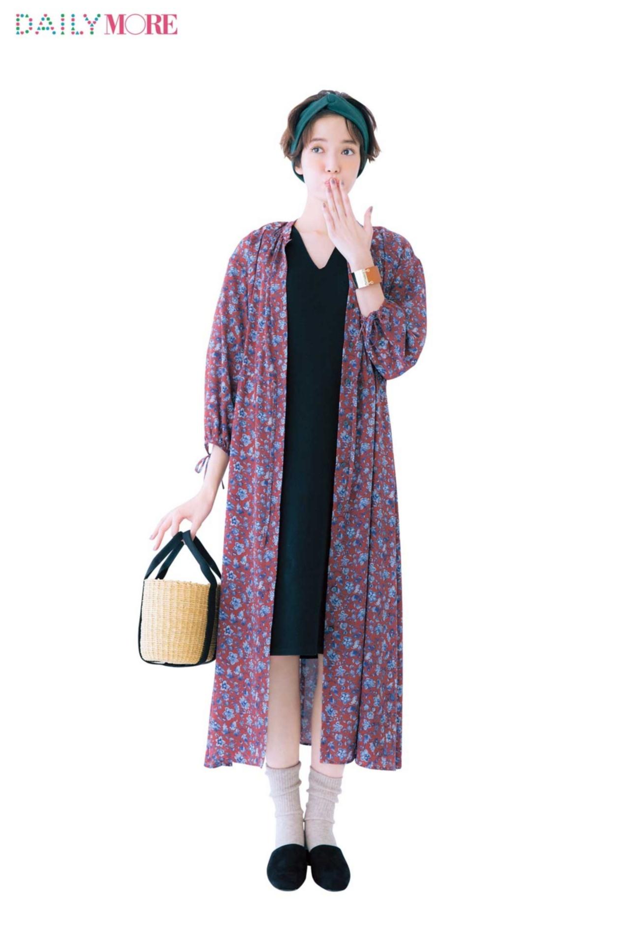 羽織るだけで今っぽい♪「ガウン」を使った春コーデまとめ♡_1_8