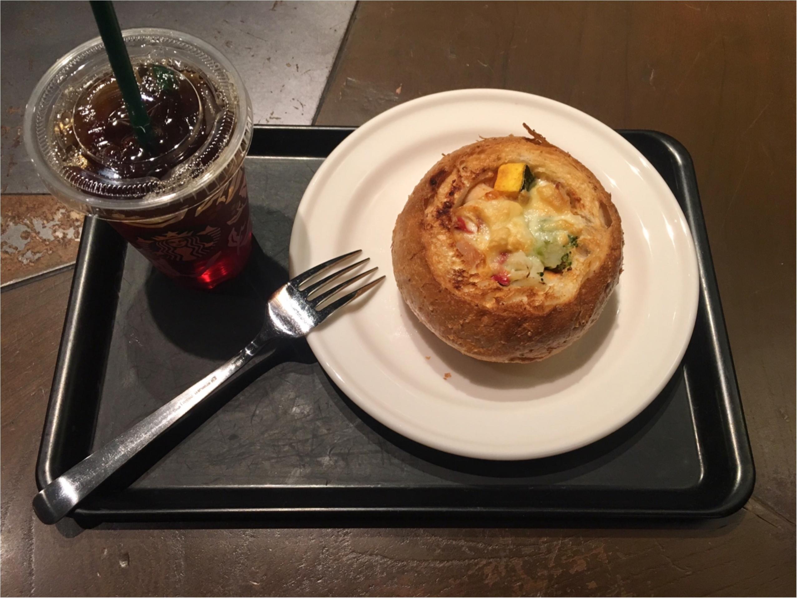 【スタバ】クリスマスにぴったりなグラタンパン♡_1