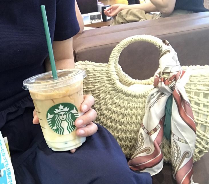 夏はやっぱりかごバッグ★スカーフアレンジが可愛い♡なんと2,700円でGETしました!_4