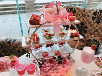 【ラ・スイート神戸ハーバーランド】ストロベリーアフタヌーンティーの苺と薔薇のコラボが可愛すぎる♡♡